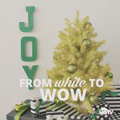 Refresh Old Holiday Decorations With Paint
