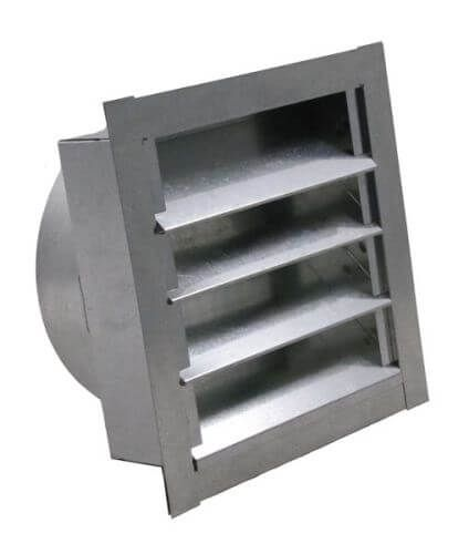 Louvered Gable Vent With Round Transition Gable Vents Louver Vent Wall Vents