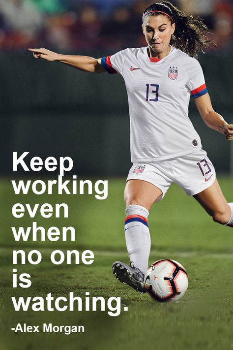 Alex Morgan soccer quote - S O C C E R⚽️ - football Soccer Pro, Soccer Memes, Play Soccer, Football Soccer, Soccer Girls, Soccer Cleats, Nike Soccer, Girls Soccer Quotes, College Football