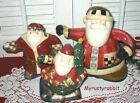 Debbie Mumm Christmas Santa Teapot with Creamer & Sugar Bowl Set - Ceramic #Holiday