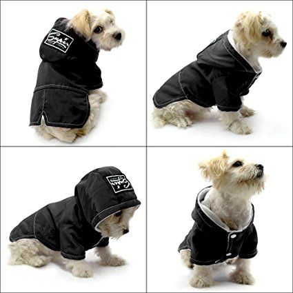 Dog Cold Weather Coats Dogs Clothes Fleece Lined Parka