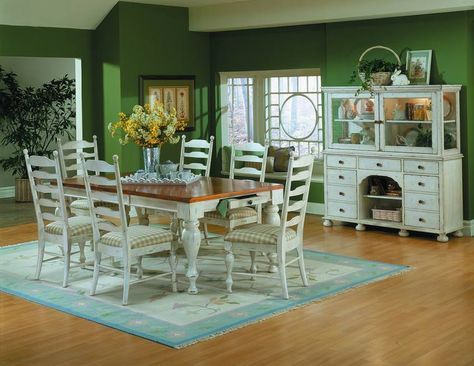 Case Stile Country Moderno : Dining room designs: beautiful country dining room furniture green