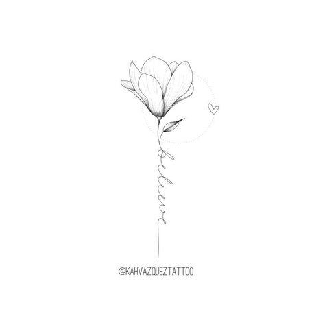 Flor com believe disponíveis para tatuar por @KahVazquezTattoo #FineLine #Finelinetattoo #TraçoFino #beautytatoos
