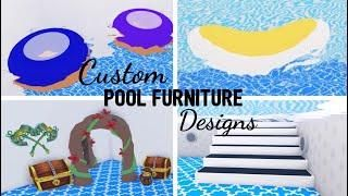 8 Custom Pet Furniture Design Ideas Building Hacks Roblox Adopt Me Part Two Its Sugarcoffee In 2020 Custom Pet Furniture Custom Pools Cute Room Ideas