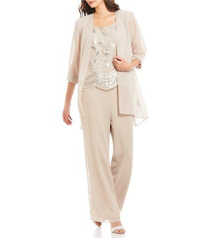 Dillards White Pantsuit