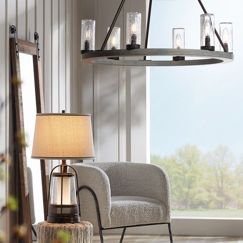 Modern Farmhouse Living Room - Get The Look at Lamps Plus