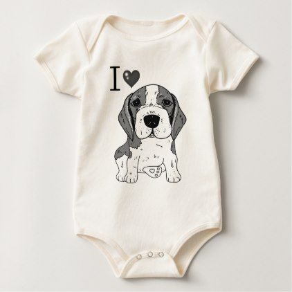 Beagle Dog Baby Bodysuit Cute Baby Bodysuits Bodysuits