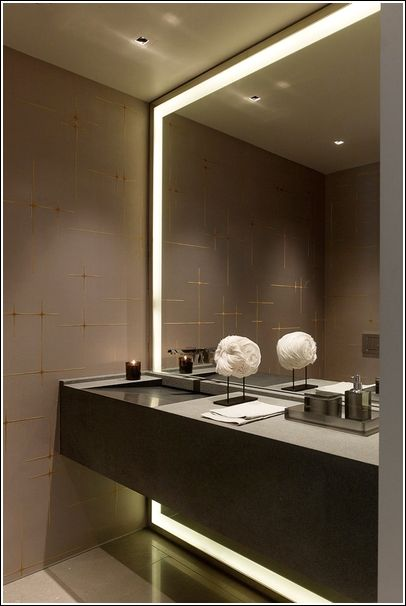 Modern Large Bathroom Mirror Besthomish, Herman Modern Contemporary Beveled Bathroom Vanity Mirror