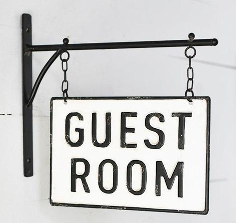 Guest Room Sign, Guest Room Decor, Guest Room Office, Wall Decor, Antique Signs, Vintage Metal Signs, Home Bar Signs, Farmhouse Style Bedding, Basement Guest Rooms
