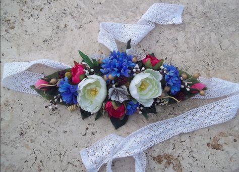 nuovo concetto d3573 e22ce Flower Belt - Cintura Fiori di Campo: cornflower, ranunculus ...