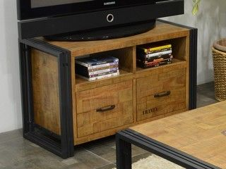 Meuble Tv En Bois Recylce 100 Hevea Industria2 Meuble Pour Le Salon Lotusea Meuble Tv Bois Meuble Meuble Tv