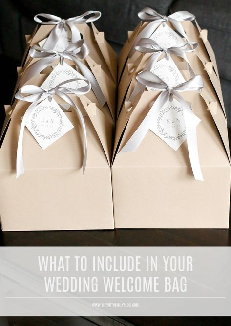 Your wedding day is almost here & most details have been checked off the list. now it's time to make sure your guests are covered when they check in! I'm sharing all the details of what we included in our welcome bags from It It's Paper in Greensboro! Wedding Hotel Bags, Wedding Guest Bags, Beach Wedding Gifts, Wedding Welcome Gifts, Wedding Gifts For Guests, Wedding Bag, Wedding Ideas, Wedding Boxes, Wedding Advice