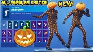 New Pumpkin Jack Gourdon Skin Showcase With All Fortnite Popular