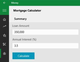 Mortgage Calculator Windows 10 Win10 Includes A Built In Stock