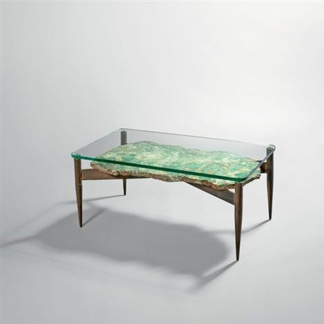 Importante Table Basse By Gio Ponti Bronze W Gunmetal