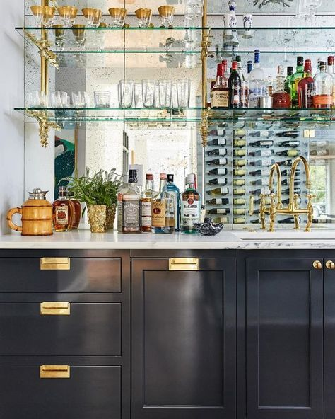 French Bistro Shelves In The Kitchen Home Bar Designs Modern
