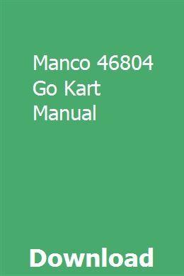 Manco 46804 Go Kart Manual Owners Manuals Repair Manuals Vw Passat