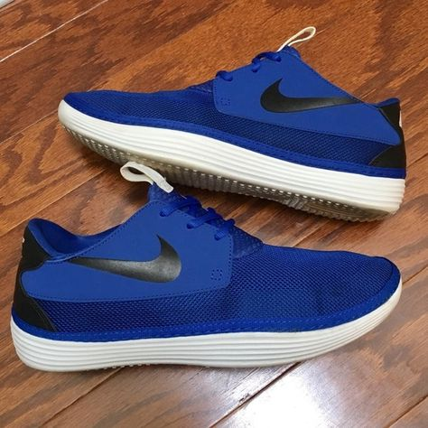 finest selection 48e63 e3a93 Nike Solarsoft Moccasin Sneakers Nike Solarsoft Moccasin sneakers, in royal  blue with black detailing, men s size 11, in excellent like-new condition.