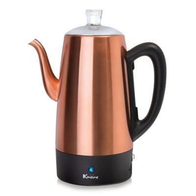 Euro Cuisine 12 Cup Electric Coffee Percolator In Copper Percolator Coffee Percolator Coffee Grinder