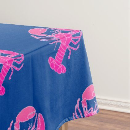 Sea Life Halloween 2020 Crawfish Crayfish Lobster Sealife Pink Blue 2020 Tablecloth