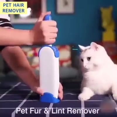 Still using refillable remover or tape to clean pet fur and lint? This reusable pet hair remover lets you get rid of your pet's fur with just one brush. It works on clothing, carpets, furniture, couch or even your car interior.  The double-sided lint brush contains numerous bristles which can effectively pick up pet fur, lint, and hair from various surfaces. It has a self-cleaning base. There are no refills, no tape, and no messes.