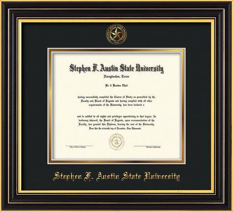Stephen F. Austin State University Diploma Frame - Cherry Lacquer ...