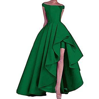 Naxy Abendkleider Lang Elegant Ab Schulter High Low Prinzessin Liebsten Asymmetrische Satin Ballkleider Lang Prinzessin Pa Langarm Kleid Kleider Hochzeitskleid