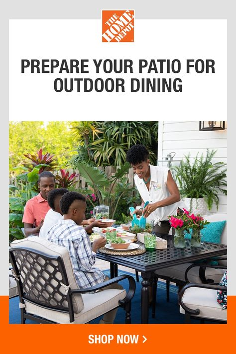 Get ready for outdoor dining with the perfect finishing touches at The Home Depot. We've got the decorative tableware, grilling accessories and more to make your patio a comfortable place to entertain. Prepare to impress your family and friends with an unforgettable outdoor dining experience. Tap to shop with The Home Depot.