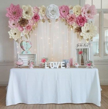 62 New Ideas For Pretty In Pink Bridal Shower Decor Paper Flowers