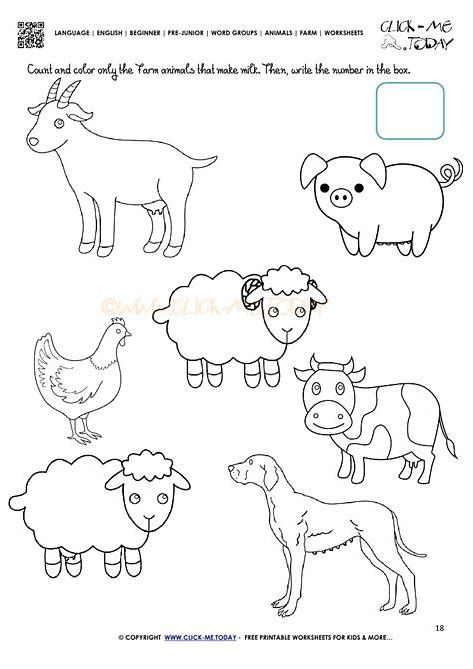 Farm Animal Babies Matchup Worksheet Animal Worksheets Farm Animals Farm Animals Preschool