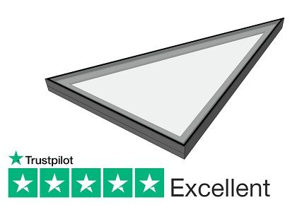 Triangular Rooflight Shaped Fixed Rooflights 10 Yr Warranty Duplus Roof Light Triangular Pitched Roof