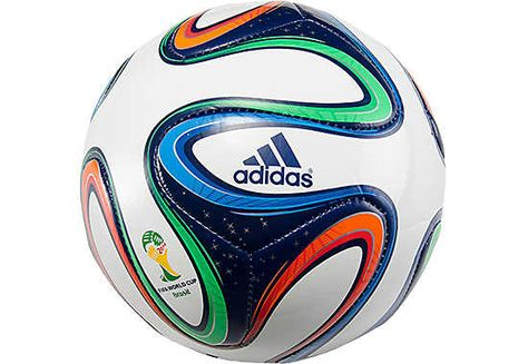 a762b6308b adidas White with Night Blue Brazuca Top Glider Soccer Ball ...