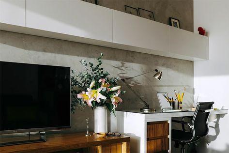 Apartamento integrado com porta embutida para privacidade do dormitório - limaonagua