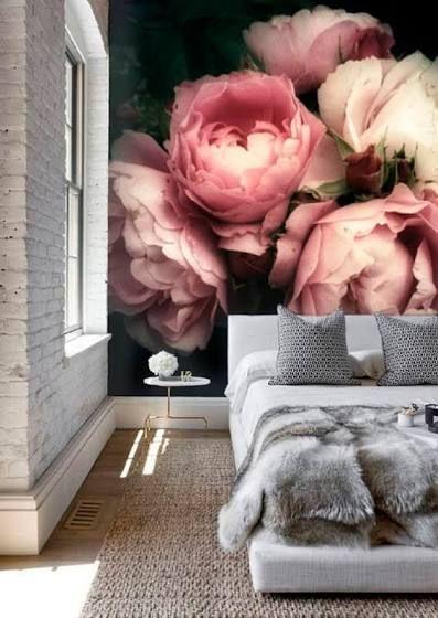 Large Floral Wallpaper Black Floral Wallpaper Large Flower