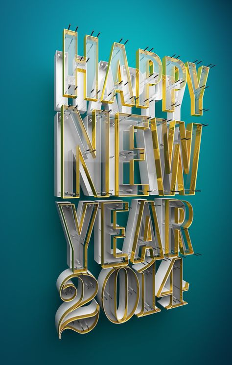 2014 New Year Typography by Paul Woodward.