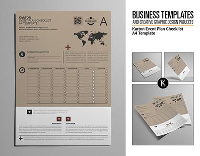 Check out new work on my @Behance portfolio \ - Event Plan Template