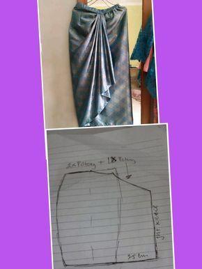 Cara Membuat Pola Batik : membuat, batik, Azzira, Syahira, Pecah, Fashion, Sewing, Pattern,, Drape, Skirt, Patterns
