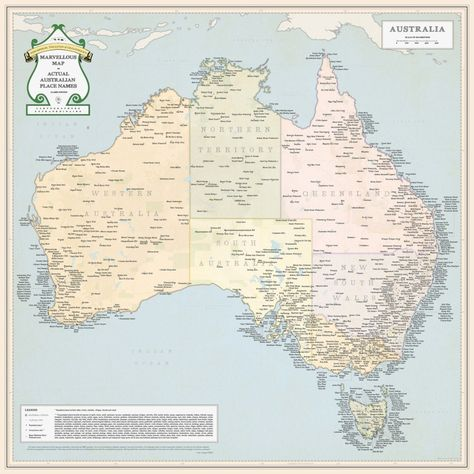 Australia Map Rude Names.This Map Of Australia Only Lists Places With Fucking Rude