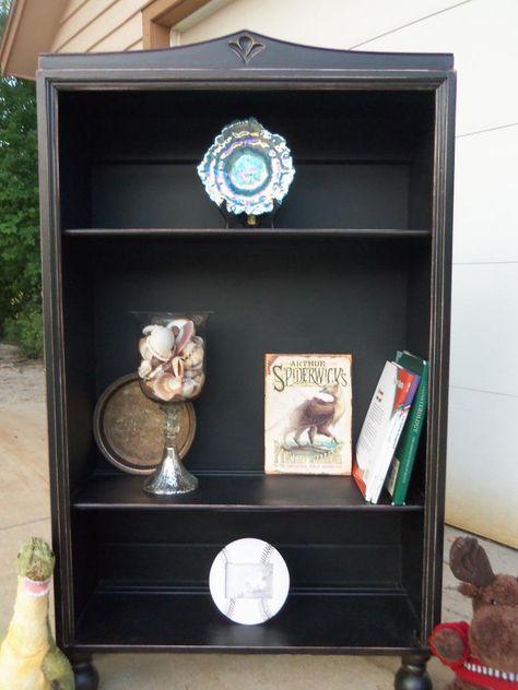 Distressed Black Book shelf