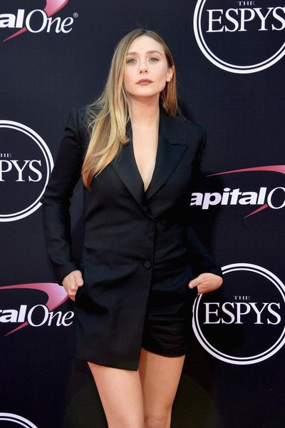 Actor Elizabeth Olsen attends the 2017 ESPYS.