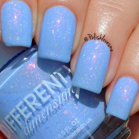 Rocket Man – baby blue crelly with added aurora shimmers, iridescent color shifting flakies, and holographic microflakiesOpaque in 2 3 coats. Every effort has been made to provide color accurate photos and an accurate description of each nail polish, h Blue Nail Polish, Red Nails, Hair And Nails, Baby Blue Nails, Summer Nail Polish, Essie Polish, Nail Polish Brands, Gel Polish, Uñas Diy