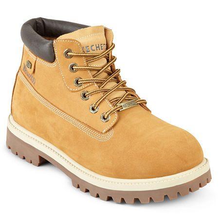 Skechers Verdict Mens Waterproof Leather Work Boots | Mens