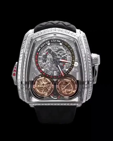 Jacob & Co. 捷克豹 Twin Turbo Furious Baguette White Gold TT800.30.BD.AA.A
