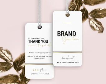 Diy Printable Clothing Hang Tag Template 2x3 5 Etsy Custom Hang Tags Tag Template Thank You Card Template