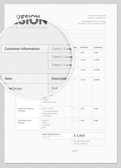 Invoice Template ( Free Download ) by Wassim Awadallah, via - when invoice is generated