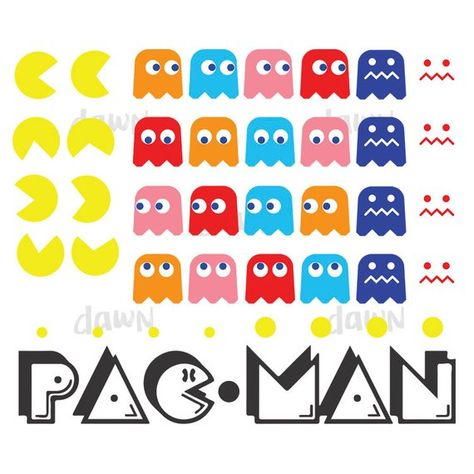 The File Format You Get 1 Svg 1 Pdf 1 Png 1 Dxf 1 Eps Instant Download No Physical Products Will Be Shipped Downloaded Products Can Not Be Ret Svg Pacman Dxf