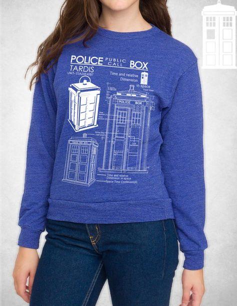 Tardis Sweatshirt | Doctor Who Sweatshirt