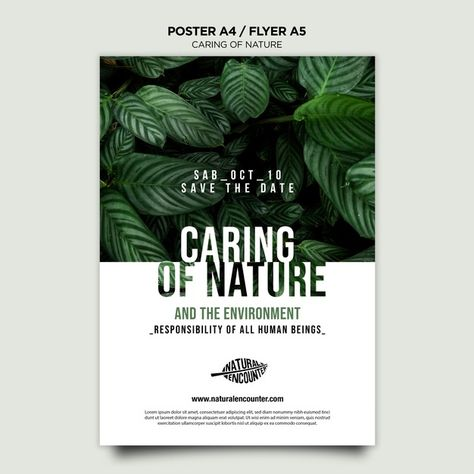 Download Nature Concept Flyer Template for free