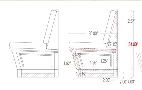 Banquettes- standard dimensions | Designer Reference | Pinterest |  Banquettes, Banquette seating and Kitchens