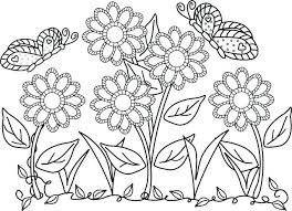 Image Result For Simple Garden Coloring Book Butterfly Coloring